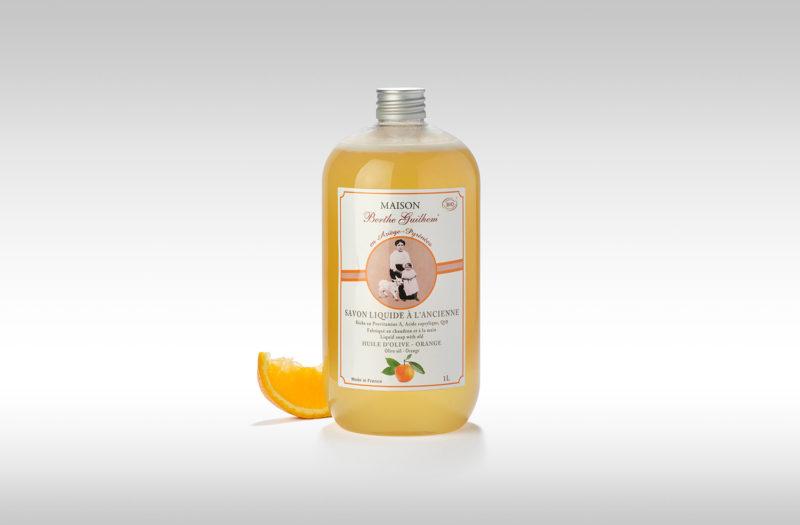 Savon liquide bio à l'ancienne Olive Orange