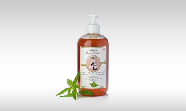 vente en ligne savon liquide bio verveine olive fabriqué en France