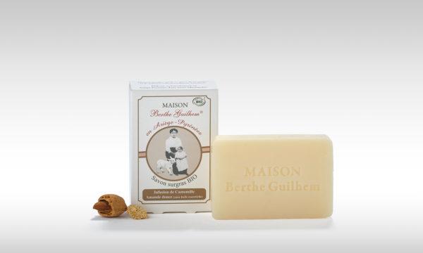 Savon sans huile de palme Neutre au lait de chèvre amande douce (sans huile essentielle)