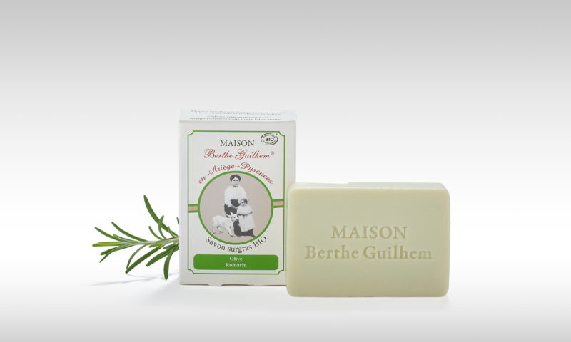 Vente de Savon bio huile d'olive et romarin fabriqué en France