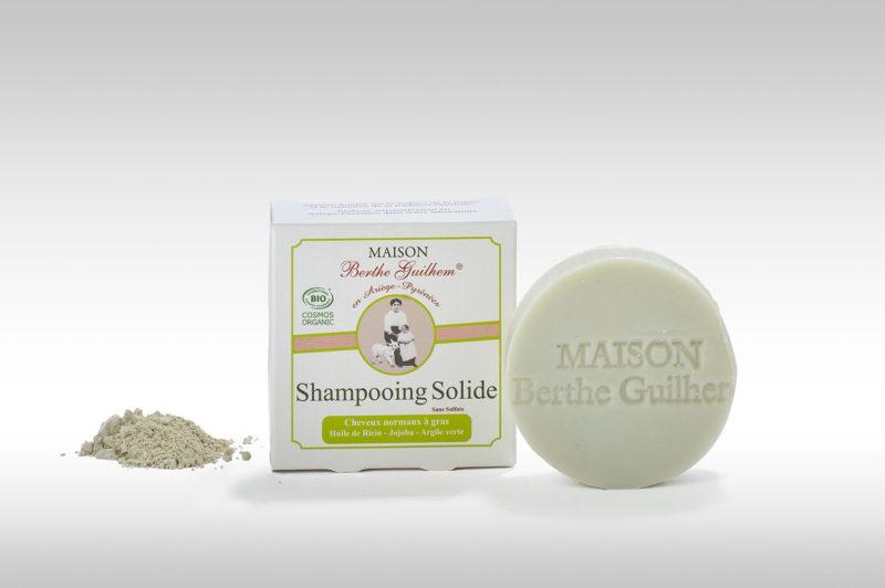 Shampoing solide bio normaux a gras fabriqué en France