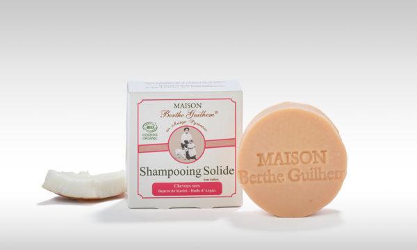 Shampoing solide bio cheveux secs et abîmés cosmétiques bio Maison Berthe Guilhem