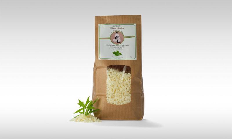 Copeaux de savon bio au lait de chèvre alpine fabriqué en France