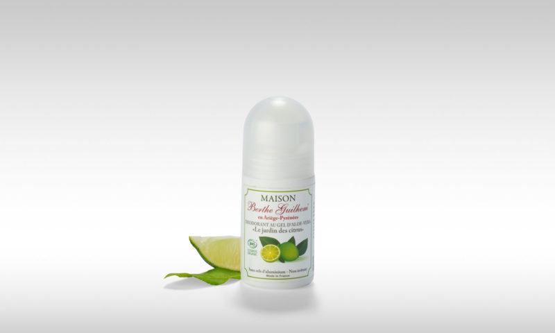 Déodorant Bio jardin des citrus maison berthe Guilhem cosmétiques bio