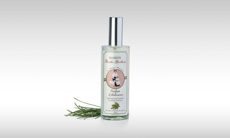 Parfum d'ambiance sapin par la Maison Berthe Guilhem Cosmétiques Bio