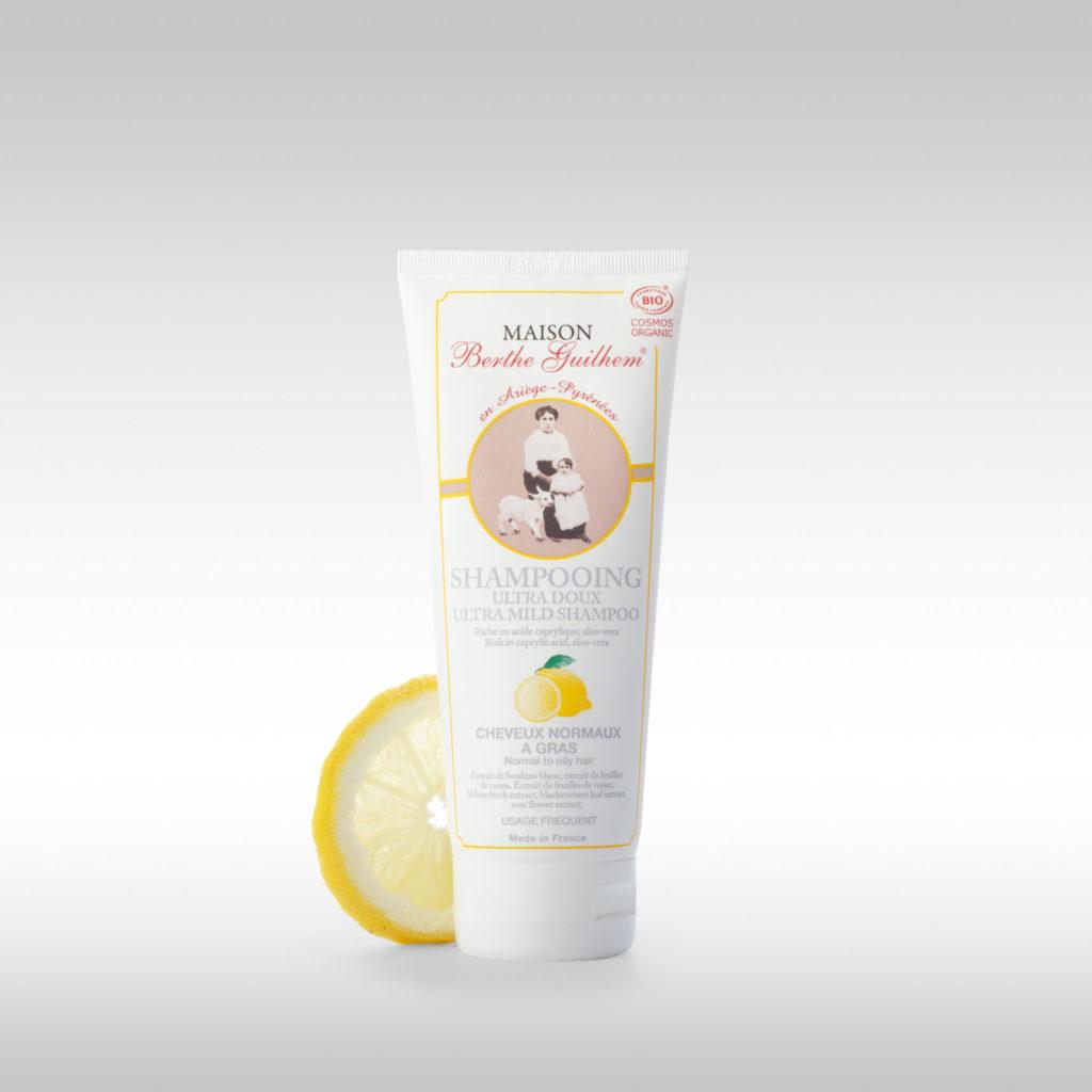 Shampoing ultra doux pour cheveux normaux à gras citron