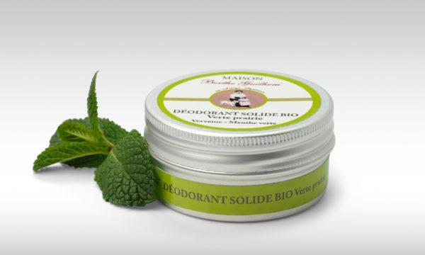 déodorant solide bio verte prairie cosmétiques certifiées bio fabriqués en France