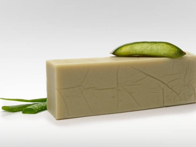 Pain de savon lait de chèvre aloe vera cosmétiques certifiés bio